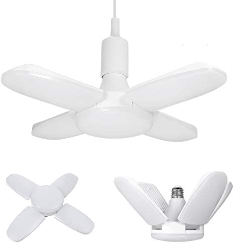 Deformable LED Garage Light 30W//45W//60W E27 Foldable Ceiling Workshop Lamp IS9