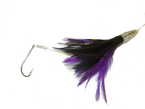 Duster 6″ Purple and Black Feather Lure (Rigged)