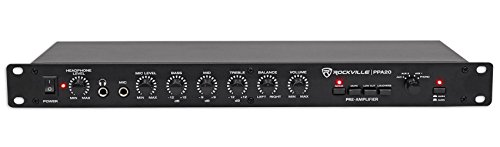 Rackmount Headphone Amplifier (Rockville PPA20 Preamp Professional 1U Rack Mount Pre-Amplifier w/Crossover+EQ)