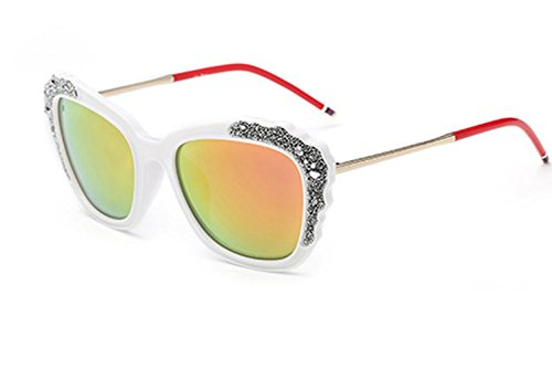 Party Sunglasses De Mujer MSNHMU White Beach Fashion Gafas Sol De Shopping IHYznZ