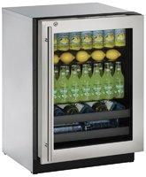 """U-Line U3024BEVS13A Built-in Beverage Center, 24"""", Stainl..."""