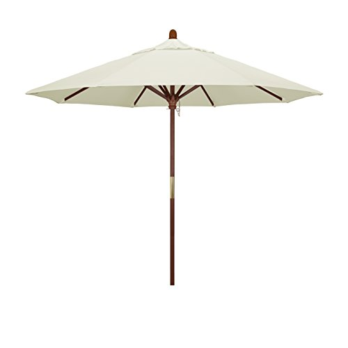 California Umbrella 9' Round Hardwood Frame Market