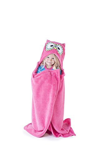 Owl Blanket Childrens Hooded Animal Critter Blankets by LazyOne | Childrens Dress Up Large Travel Blanket (ONE SIZE) by Lazy One (Image #1)