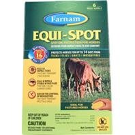 EQUI SPOT SPOT-ON FLY CONTROL FOR HORSES - Size: 3 APPLICATIONS