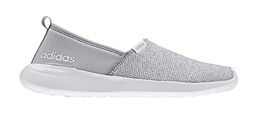Women's adidas Cloudfoam Lite Racer Slip-On, Onix/White, 8 B (Lite Womens Mesh)
