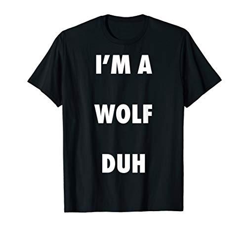 Easy Halloween Wolf Costume Shirt for Men Women Kids T-Shirt