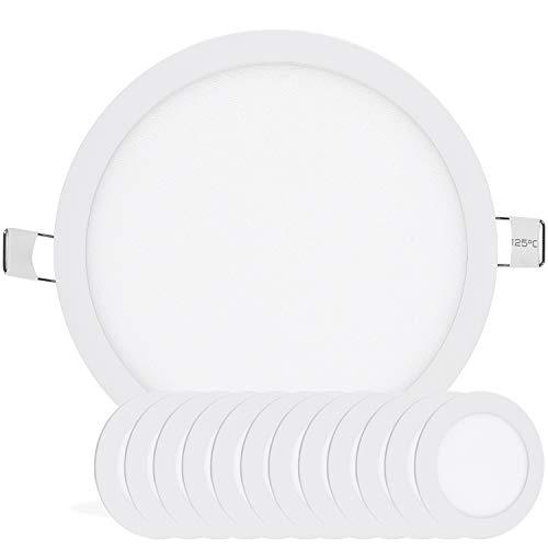 Lighting Recessed Miniature Housing - LEEKI 18W Recessed Downlight Ceiling Light - Cool White 5000K - Ultra Slim Design - 6