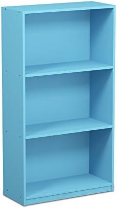 Furinno 99736LBL Bookcase Storage Shelves