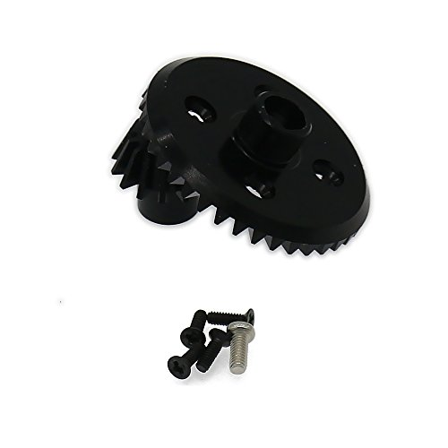 (RCAWD Differential Ring Gear + Pinion Gear 7075 Top Level Aluminum Alloy for Rc Hobby Model Car 1/18 Wltoys A959 A969 A979 K929(Black))