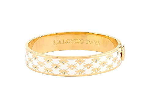 Halcyon Days Bee Sparkle Trellis Cream & Gold Bangle #HBBES0513G