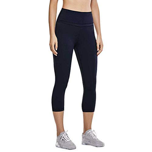 - TOTOD Workout Leggings for Women Soild Color Out Pocket Fitness Sports Running Yoga Athletic Pants Navy