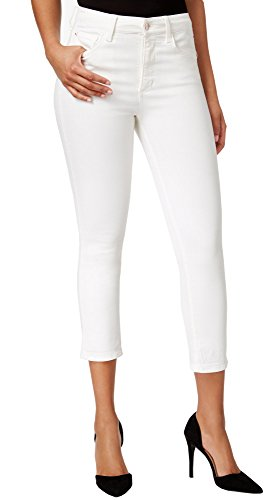 Buffalo David Bitton Women's Mid-Rise Super Soft Capri Jeans (6/28, White) ()