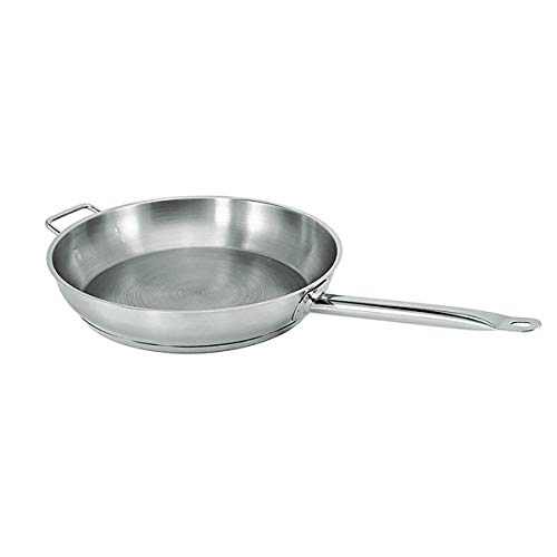 "Update International (SFP-11) 11"" Induction Ready Natural Finish Stainless Steel Fry Pan"