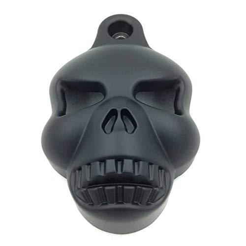 Yitong Motorcycle Billet Skull Horn Cover for 1992-2013 Harley Davidson Big Twins V-Rods Stock Cowbell Horns Black