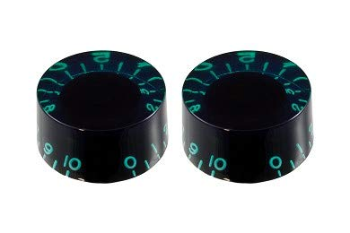 (Vintage Style Speed Knobs (2) For Guitar - GREEN TINT)