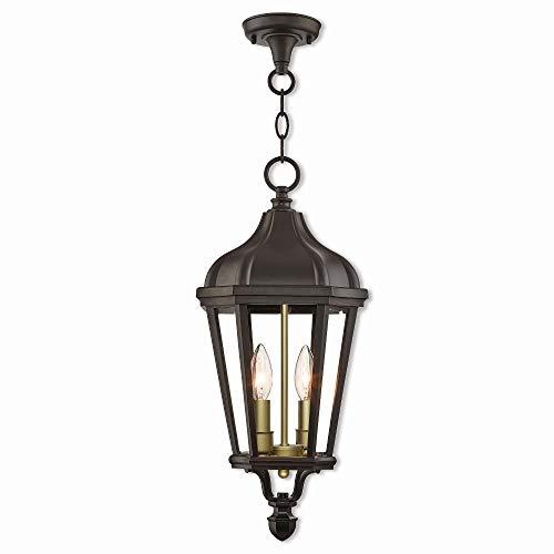 Livex Lighting 76189-07 Morgan - Two Light Outdoor Hanging Lantern, Bronze Finish with Clear Glass (Morgan Hanging Lantern)