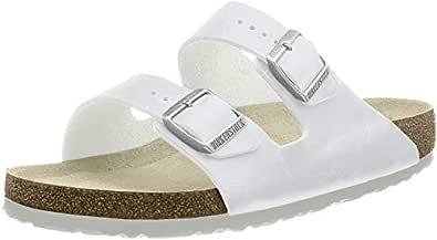 Birkenstock Arizona Unisex Sandals, White, 36 EU