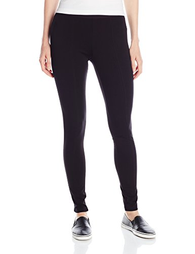 HUE Women's Plus Size High Waist Blackout Ponte Leggings, Black, 2X