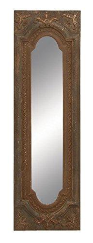 Fleur De Lis Wall Mirror (Deco 79 Old Look Looking Glass Mirror)