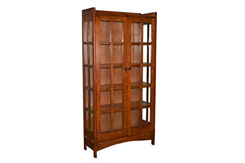 (Mission Solid Quarter Sawn Oak China Cabinet - Golden)