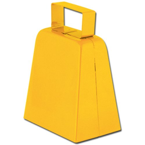 Cowbells (yellow) Party Accessory  (1 count) (Cow Costume For Kids)