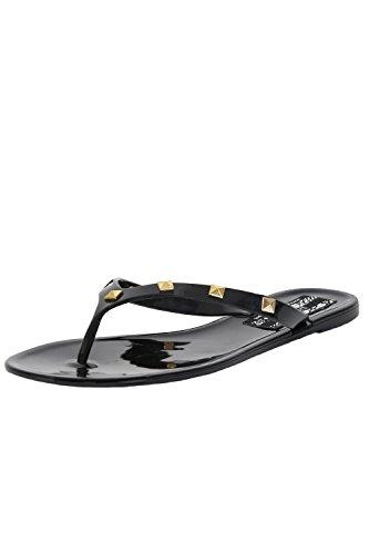 Sandals Jelly Black Pilot Flat Black Women's Stud In Detail 7wnPaxXIPq