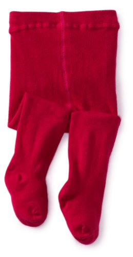 Jefferies Socks Baby Girls' Seamless Organic Cotton Tights, Hot Pink, 18 24 -