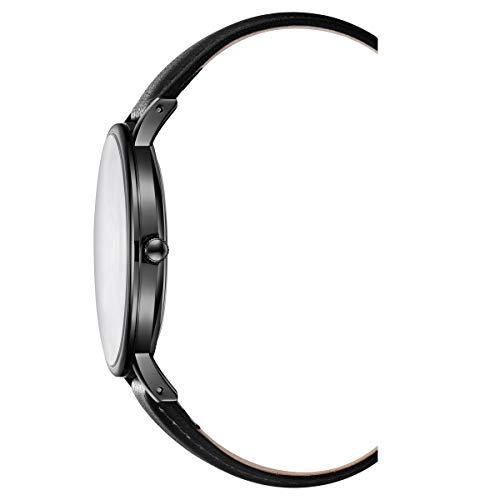 Kenneth Cole New York Mens 3 Hands Quartz Black Plated Steel Watch on Black Genuine Leather Strap, 42 mm Case (Model KC51111010)