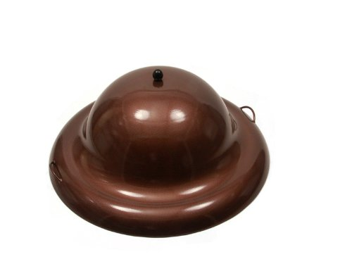HPC Round Aluminum Fire Pit Cover, 44 Inch, Copper Vein by Hearth Products Controls
