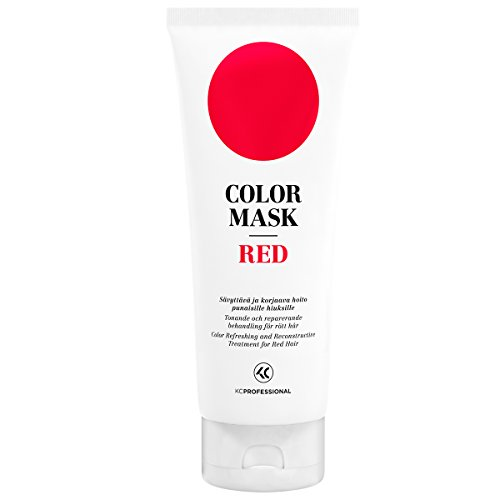 Red Hair Colour - KC Professional Red Color Mask Reconstructive Treatment - Toning Conditioner for Red Hair - 6.76 oz