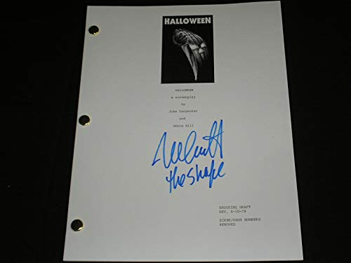 NICK CASTLE Signed HALLOWEEN SCRIPT Autograph Michael Myers The -