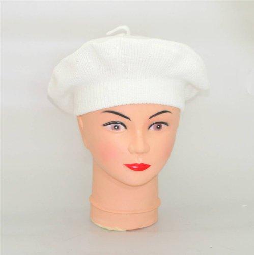 Béret basque blanc - bonnet des Pays Basque francais