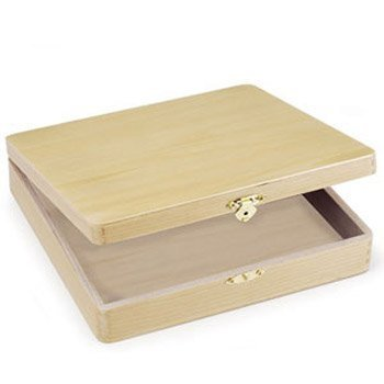 Bulk Buy: Darice DIY Crafts Cigar Box Unfinished 8-3/8 x 8-1/8 x 1-7/8 inches (3-Pack) 9180-06