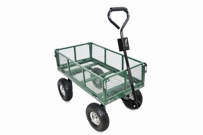 Green Thumb 70108 4 Wheel Mesh Garden Cart With Sidewalls