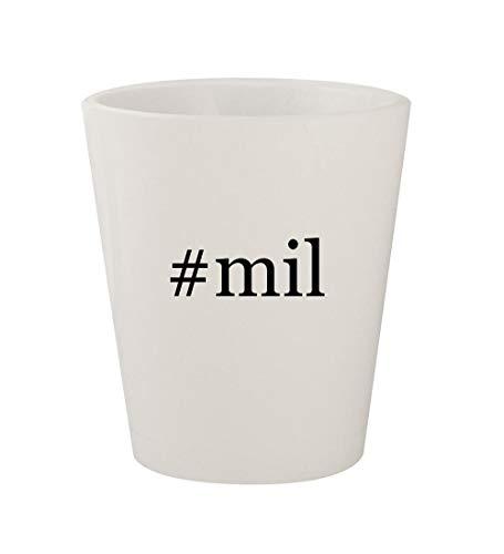 Price comparison product image #mil - Ceramic White Hashtag 1.5oz Shot Glass