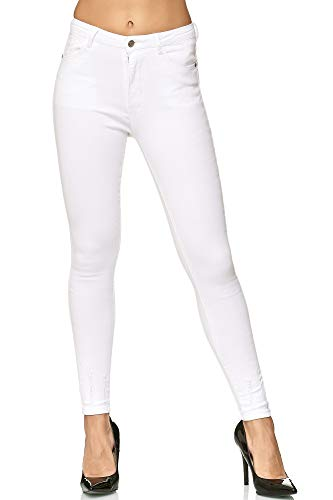 Imprimé Paris Crayon Elara Slim Pantalon Taille Blanc Collant AjqL4R35