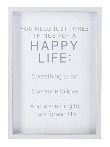 Ganz You Need just Three Things for a Happy Life: Something to do, Someone to Love, and Something to Look Forward to Framed Wall Plaque (Something To Look Forward To Someone To Love)