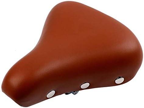 快適な自転車用シート、衝撃を吸収する低反発自転車シートレトロな自転車用サドルPuレザーリベットMtb乗用サドル