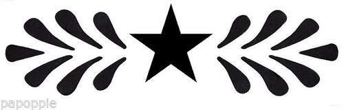 OutletBestSelling Stencil Primitive Border Wheat Stars Crafts B07HFG7K7P
