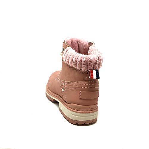 Intérieur Angkorly Talon Chaussure Mode Cm Rose Bloc 3 Femme Baskets Maille Street Rangers Bottine Fourrée CC7nar18