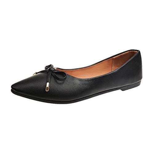 Noir Jolies Décontractées Décontractées Bowknot Femmes Printemps Talon Place Femme Plates Chaussures Chaussures Plat Chaussures Automne BaZhaHei n4wxfqYZ
