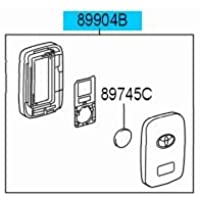 Genuine Toyota Highlander Smart Key 89904-0E120. OEM Keyless Entry Remote Transmitter. 2014-2015 Highlander. 2014-2015 Highlander Hybrid.
