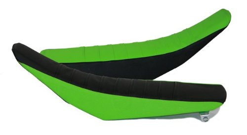 FLU Designs F-25304 Black/Green Pleated Grip Seat Cover for Kawasaki KX 250F/450F (Kawasaki 450 F compare prices)