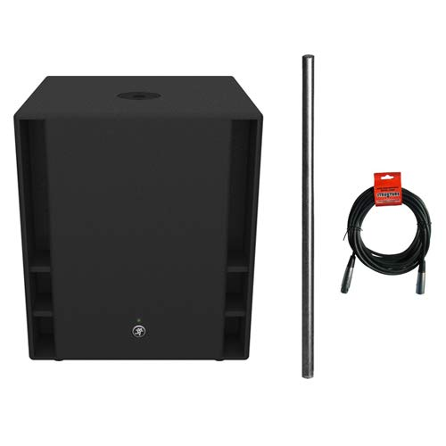 Mackie Thump18S 1200 W 18'' Powered Subwoofer with Subwoofer/Speaker Attachment Pole and XLR- XLR Cable by Kellards