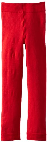 (Jeffries Socks Baby Girls' Pima Cotton Footless Tights, Red, 18 24 Months )
