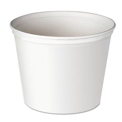 - SCC10T1UU Double Wrapped Paper Bucket, Unwaxed, White, 165 oz