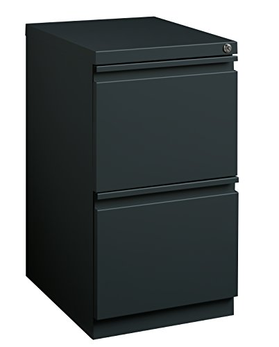 Pro Series Two Drawer Mobile Pedestal File Cabinet, Charcoal, 20 inches deep (22291)