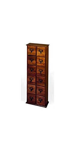 Twelve Drawer Library Style Compact Disk Cabinet by Leslie Dame