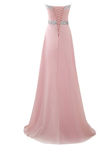Ballkleid Schatz Abendkleider Lange Brautjungfernkleid Erosebridal Chiffon Lavendel PHwqaZF