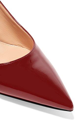 Verni Aiguille 5cm Edefs Traivail Moyen Femme Escarpins Sexy 6 Mariage Bordeaux Chaussures Talon CwOtqYw